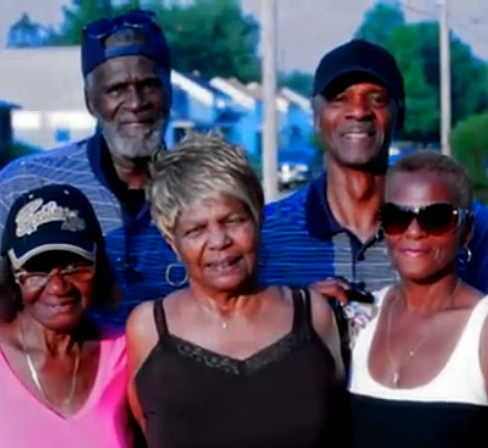 Malik Frrakhan and his family in the Public Enemy's official video EVERYTHING